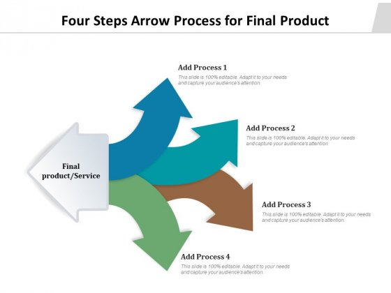 Four Steps Arrow Process For Final Product Ppt PowerPoint Presentation Styles Backgrounds PDF