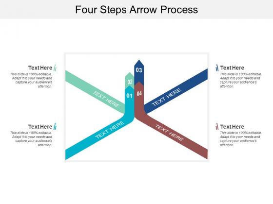 Four Steps Arrow Process Ppt PowerPoint Presentation Infographics Brochure