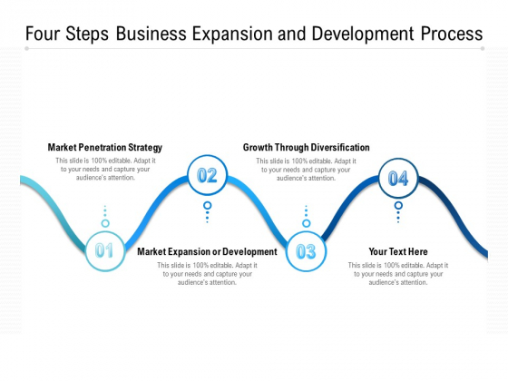 Four Steps Business Expansion And Development Process Ppt PowerPoint Presentation Styles Inspiration PDF