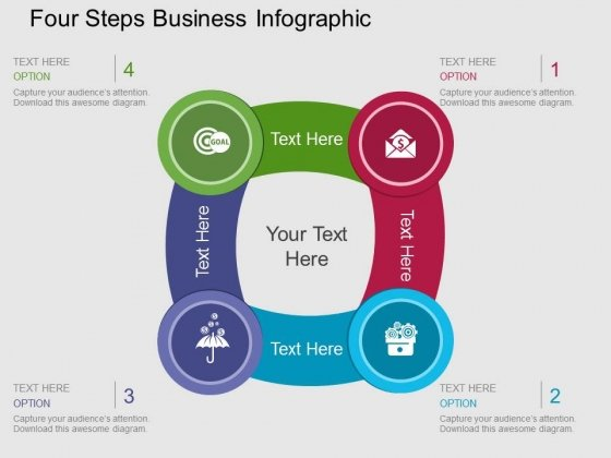 Four Steps Business Infographic Powerpoint Templates