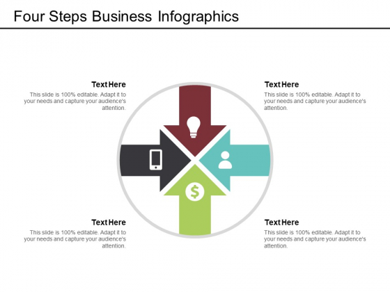 Four Steps Business Infographics Ppt PowerPoint Presentation Model Visual Aids