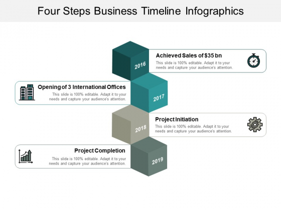Four Steps Business Timeline Infographics Ppt Powerpoint Presentation Outline