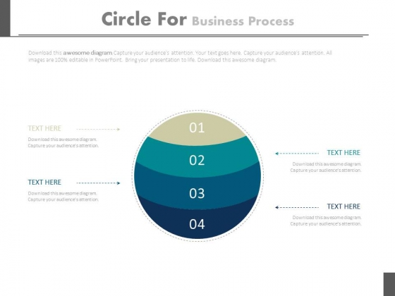 Four Steps Circles For Business Planning Process Powerpoint Slides