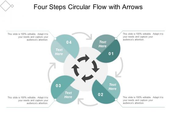 Four Steps Circular Flow With Arrows Ppt Powerpoint Presentation Portfolio Slides