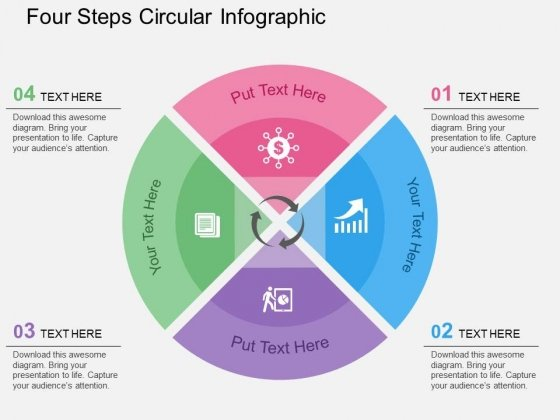 Four Steps Circular Infographic Powerpoint Templates