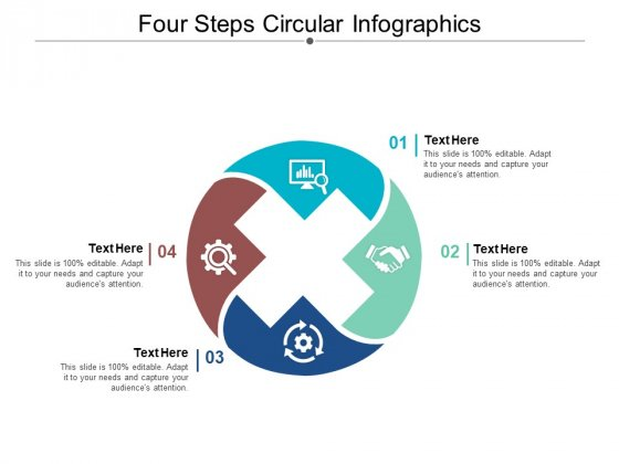 Four Steps Circular Infographics Ppt PowerPoint Presentation Infographic Template Images