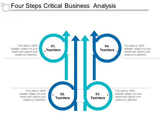 Four Steps Critical Business Analysis Ppt Powerpoint Presentation Outline Professional