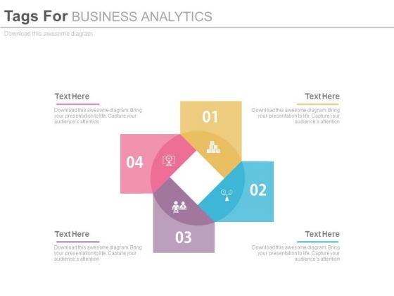 Four Steps Diagram For Marketing Agenda Powerpoint Template