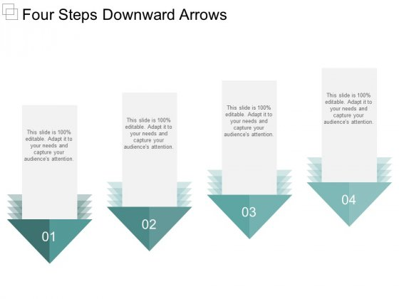 Four Steps Downward Arrows Ppt PowerPoint Presentation Show Smartart