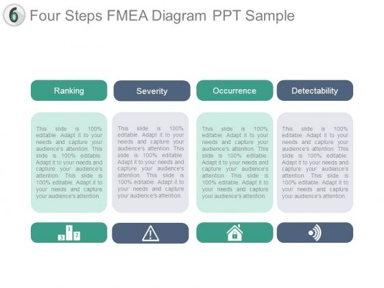 Four Steps Fmea Diagram Ppt Sample - PowerPoint Templates