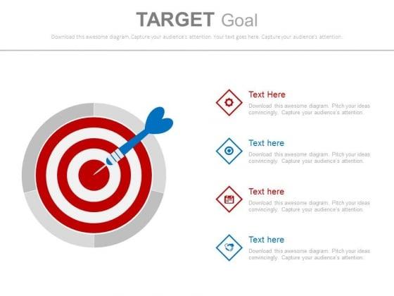Four Steps For Business Goal Achievement Powerpoint Slides