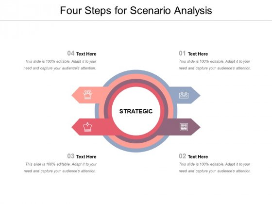 Four Steps For Scenario Analysis Ppt PowerPoint Presentation Styles Background Image