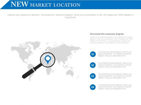 Four Steps Global Search Diagram PowerPoint Slides