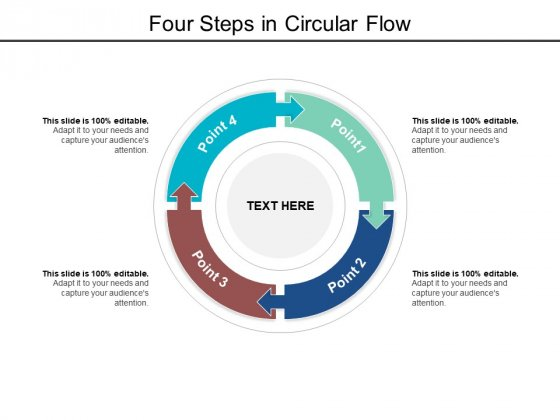Four Steps In Circular Flow Ppt PowerPoint Presentation Portfolio Outfit