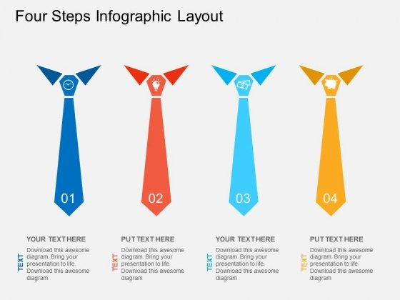 Four Steps Infographic Layout Powerpoint Template
