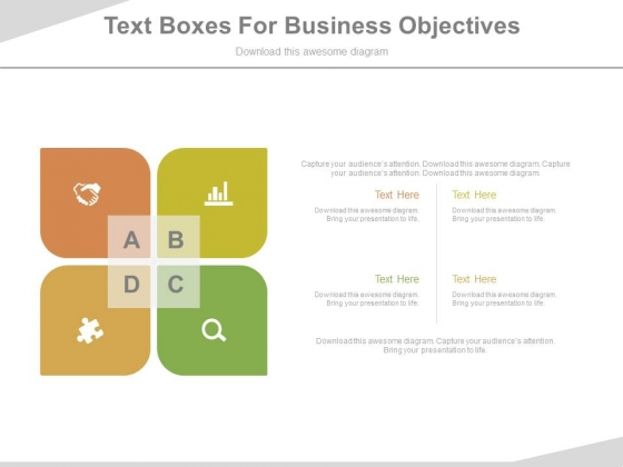 Four Steps Infographic Matrix Powerpoint Template