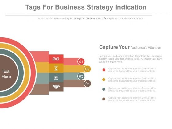 Four Steps Infographics For Target Planning Powerpoint Template
