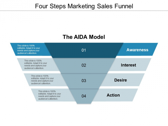 Four Steps Marketing Sales Funnel Ppt Powerpoint Presentation Show Design Templates