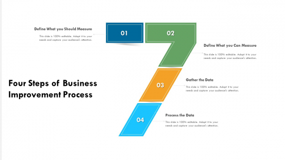Four Steps Of Business Improvement Process Ppt PowerPoint Presentation File Themes PDF