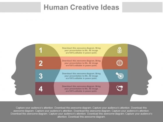 Four Steps Of Communication And Idea Sharing Powerpoint Slides