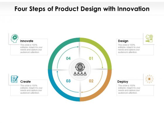 Four Steps Of Product Design With Innovation Ppt PowerPoint Presentation File Format PDF