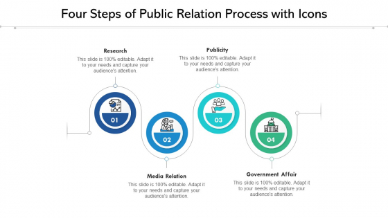 Four_Steps_Of_Public_Relation_Process_With_Icons_Ppt_PowerPoint_Presentation_File_Summary_PDF_Slide_1