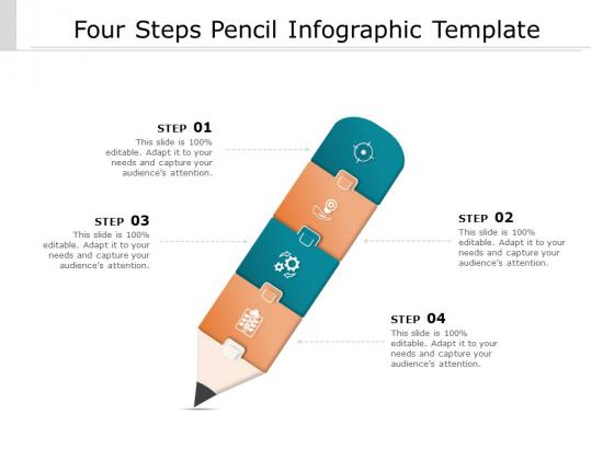 Four Steps Pencil Infographic Template Ppt PowerPoint Presentation Infographic Template Outline PDF