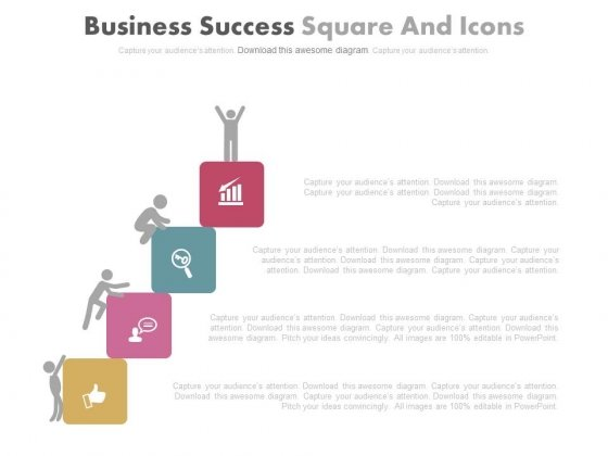 Four Success Steps For Competition Powerpoint Slides