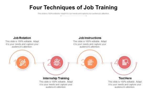 Four Techniques Of Job Training Ppt PowerPoint Presentation File Designs Download PDF