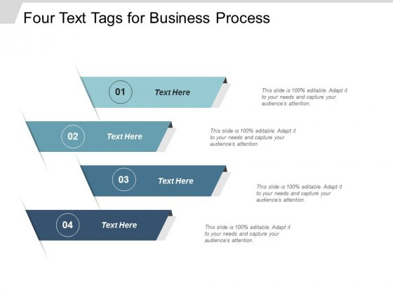 Four Text Tags For Business Process Ppt Powerpoint Presentation Ideas Gridlines