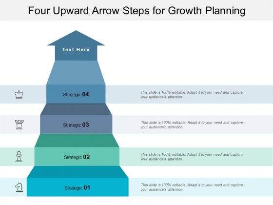 Four Upward Arrow Steps For Growth Planning Ppt PowerPoint Presentation Layouts Ideas