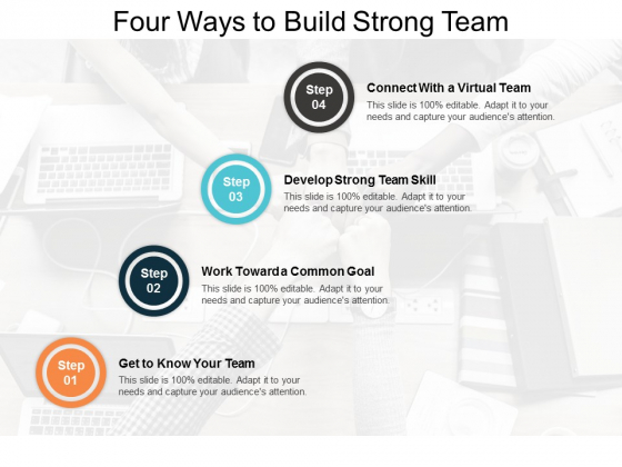 Four Ways To Build Strong Team Ppt PowerPoint Presentation Styles Rules