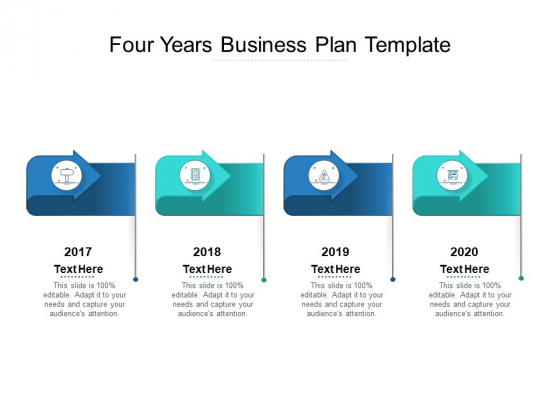 Four Years Business Plan Template Ppt PowerPoint Presentation Summary Professional