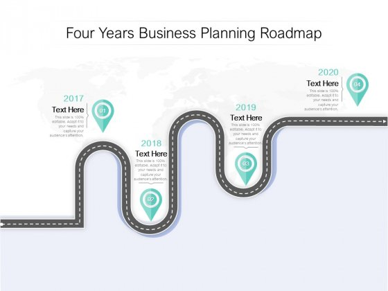 Four Years Business Planning Roadmap Ppt PowerPoint Presentation Pictures Slides