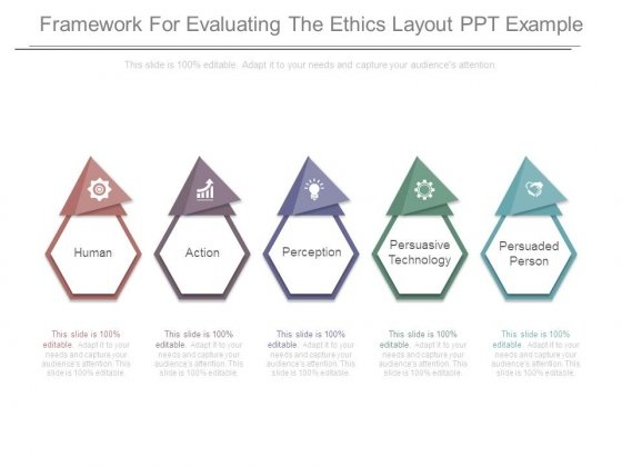 Framework For Evaluating The Ethics Layout Ppt Example