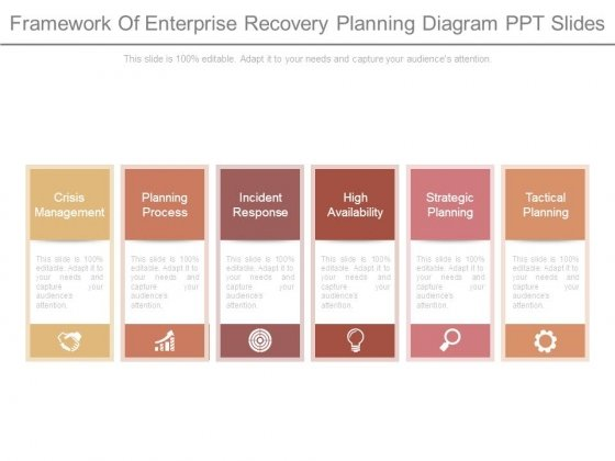 Framework Of Enterprise Recovery Planning Diagram Ppt Slides