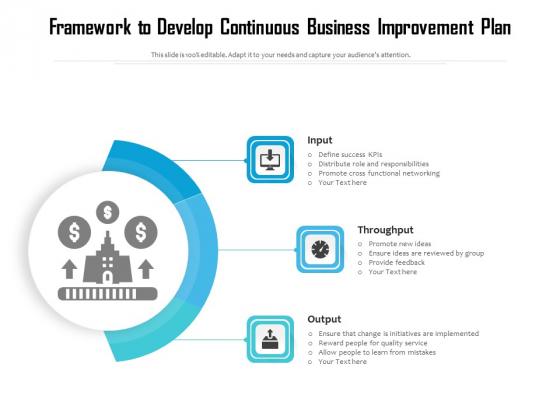 Framework_To_Develop_Continuous_Business_Improvement_Plan_Ppt_PowerPoint_Presentation_Infographics_Ideas_PDF_Slide_1