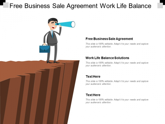 Free Business Sale Agreement Work Life Balance Solutions Ppt PowerPoint Presentation Infographic Template Display