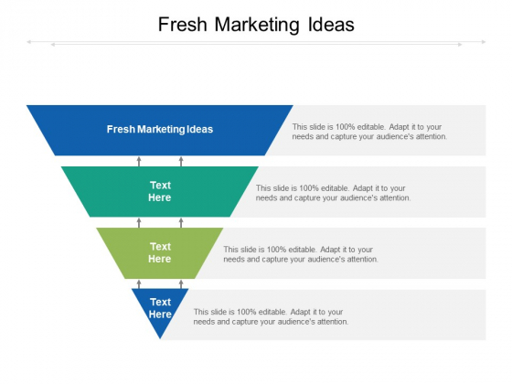 Fresh Marketing Ideas Ppt PowerPoint Presentation Slides Graphics Example Cpb