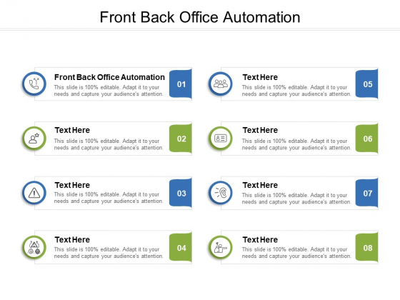 Front Back Office Automation Ppt PowerPoint Presentation Inspiration Graphics Download Cpb