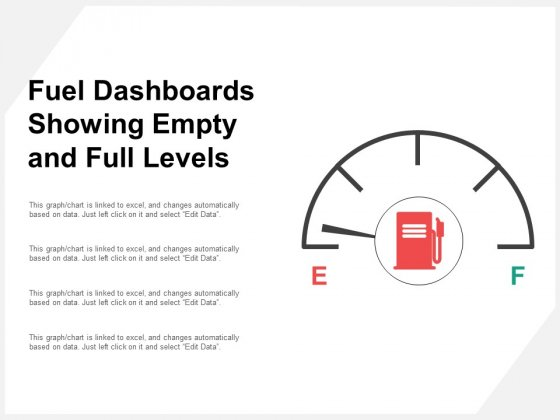 Fuel Dashboards Showing Empty And Full Levels Ppt PowerPoint Presentation Professional Slide Portrait