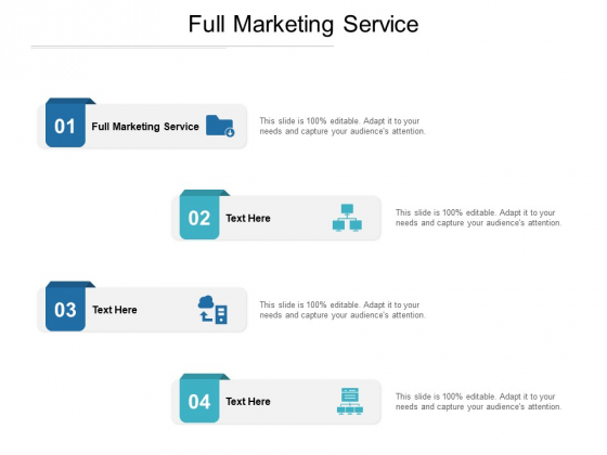 Full Marketing Service Ppt PowerPoint Presentation Outline Background Cpb Pdf