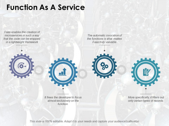 Function As A Service Ppt PowerPoint Presentation Inspiration Vector