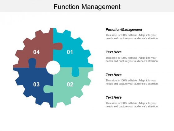 Function Management Ppt Powerpoint Presentation Summary Model Cpb