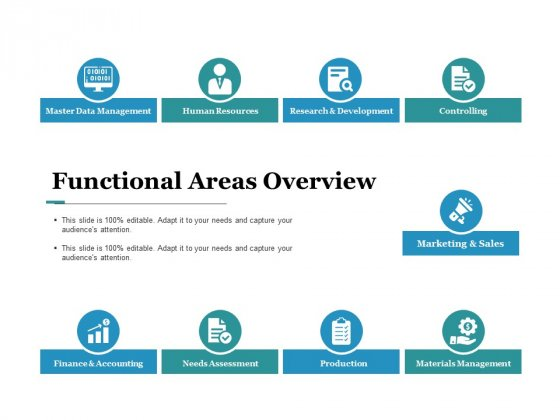 Functional Areas Overview Ppt PowerPoint Presentation Icon Design Inspiration