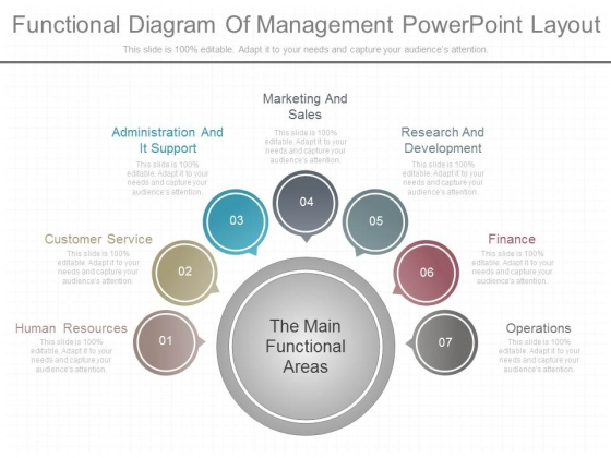 Functional Diagram Of Management Powerpoint Layout