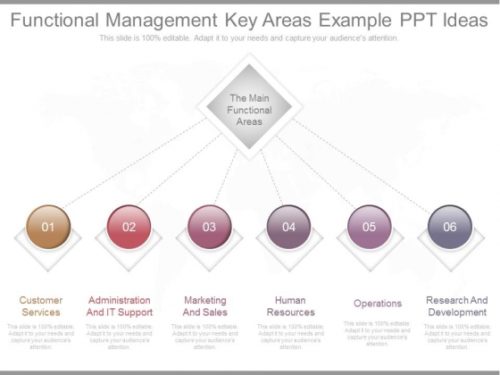 Functional Management Key Areas Example Ppt Ideas