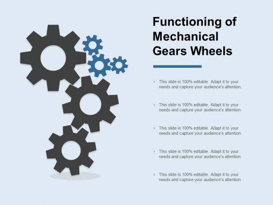 Functioning Of Mechanical Gears Wheels Ppt PowerPoint Presentation Layouts Show