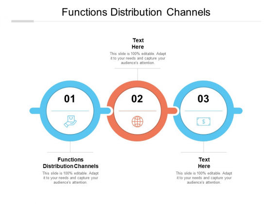 Functions Distribution Channels Ppt PowerPoint Presentation Infographics Example File Cpb
