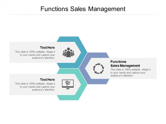 Functions Sales Management Ppt PowerPoint Presentation Inspiration Sample Cpb